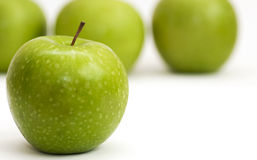 Granny Smith Green Apple Close Up Royalty Free Stock Image