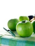 Granny Smith Green Apples. A composition of green apples (Granny Smith) bathed by the sunlight Stock Image