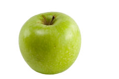 Granny Smith isolation. Granny smith apple isolated over white stock photo
