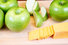 Granny Smiths and Cheese Stock Image