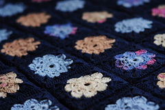 Granny square flower blanket Stock Photography