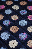 Granny square flower blanket Royalty Free Stock Photo