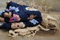 Granny square flower blanket Royalty Free Stock Image