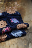 Granny square flower blanket Royalty Free Stock Photography