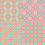 Granny Square Patterns Royalty Free Stock Photography