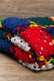 Granny squares of crochet. Homemade. Royalty Free Stock Photo