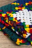 Granny squares of crochet. Homemade. Royalty Free Stock Images