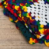 Granny squares of crochet. Homemade. Stock Images