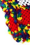 Granny squares of crochet. Homemade. Stock Photos