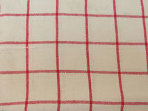 Granny style checkered fabric cloth Royalty Free Stock Image