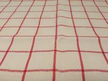 Granny style checkered fabric cloth Stock Image