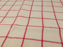 Granny style checkered fabric cloth Royalty Free Stock Photography