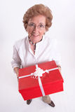Grannys gift Stock Photo