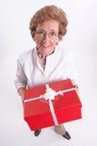 Grannys gift Stock Photo