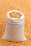 Grano del cereale in una borsa Immagine Stock Libera da Diritti