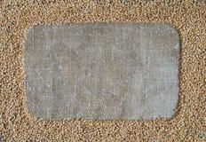 Grano del grano sotto forma di struttura su tela da imballaggio Immagine Stock