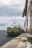 Grano di caricamento della nave Fotografia Stock Libera da Diritti