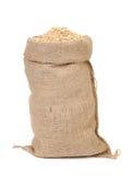 Grano di seme dell'avena nella borsa del sacco della tela da imballaggio Immagine Stock Libera da Diritti