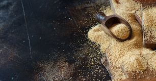 Grano orgánico crudo del amaranto Foto de archivo libre de regalías