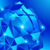 Grano plástico encariñado con el objeto geométrico tridimensional colorido stock de ilustración