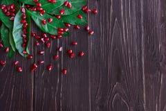 Grano rosso maturo del melograno Fotografie Stock