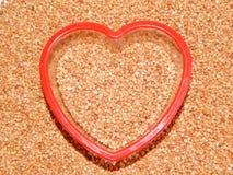 Grano saraceno del fondo, grano saraceno, grano del grano saraceno Immagini Stock