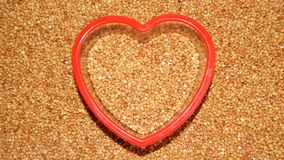 Grano saraceno del fondo, grano saraceno, grano del grano saraceno Fotografie Stock Libere da Diritti