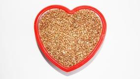 Grano saraceno del fondo, grano saraceno, grano del grano saraceno Fotografia Stock