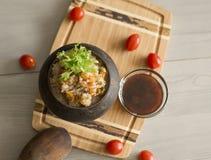 Grano saraceno friabile con burro, alimento sano Fotografia Stock Libera da Diritti