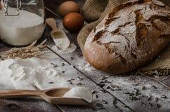 Grano-segale rustica del pane Fotografia Stock