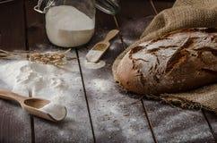 Grano-segale rustica del pane Fotografie Stock Libere da Diritti