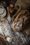 Grano-segale rustica del pane Immagini Stock Libere da Diritti