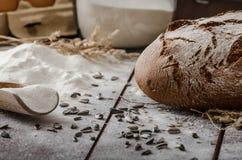 Grano-segale rustica del pane Fotografia Stock Libera da Diritti