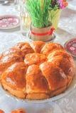 Grano serbo casalingo di Natale pane e di Natale Immagine Stock