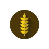 Grano Spike Icon Ripe Crop Grain illustrazione vettoriale