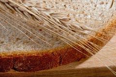 Grano sulla fetta di pane Fotografia Stock Libera da Diritti