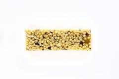 granola ράβδων ανασκόπησης που απομονώνεται πέρα από το λευκό Στοκ φωτογραφία με δικαίωμα ελεύθερης χρήσης
