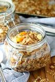 Granola миндалины абрикоса Стоковое Фото