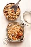 Granola с гайками Стоковая Фотография RF