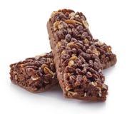 granola штанги предпосылки изолированный над белизной Стоковое Изображение RF