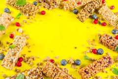Бары granola хлопьев стоковое фото