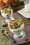 Granola. Healthy breakfast with granola and yogurt Royalty Free Stock Image