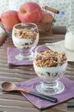Granola. Healthy breakfast with granola and yogurt Stock Photo
