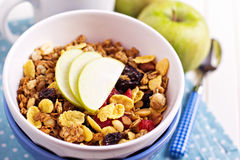 Granola avec des noix et des fruits photos libres de droits