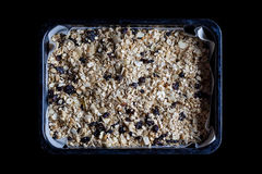Granola in a baking tray from above Stock Photography