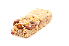 Granola Bar Isolated on White Stock Image