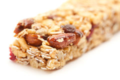 Granola Bar Isolated on White Stock Photography