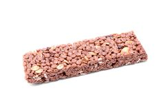 Granola bar isolates on a white Royalty Free Stock Photo