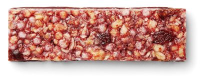 Granola bar muesli or cereal bar isolated on white royalty free stock images