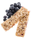 Granola Bars with Blueberries - isolated Stock Image